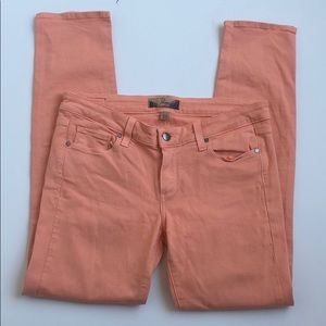 Paige Peg Skinny Jeans Ankle Length Peach Size 28
